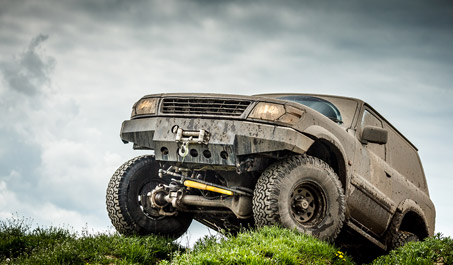Off-road vehicle with accessories